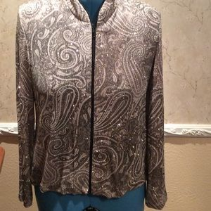 dressbarn Other - Sparkling jacket top with flowing pant set